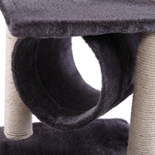 "36"" Deluxe Cat Tree Condo Furniture House Tunnel Scratcher Pet Play Toy Grey"