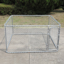 Durable Metal fences 7.5'x7.5' Outdoor Large Dog Kennel Cage Pet Pen Run House
