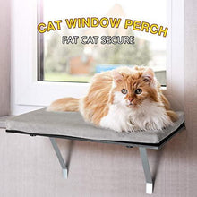Cat Bed Cat Window Perch Kitty Balcony Sunbath Sunning Mounted Shelf Couch Foam Seat Black and Gray