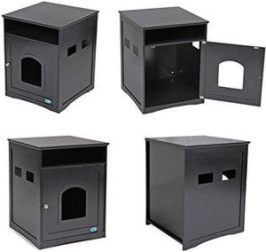 Cat Litter Box Enclosure Side Table Brown