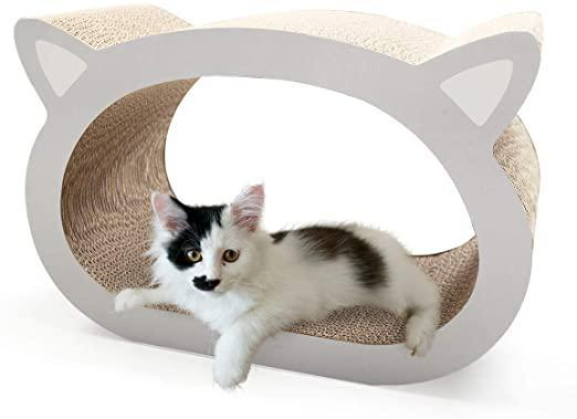 Cat Scratch Lounge Bed Cute Cat Scratcher Training Toy wCatnip
