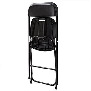 Commercial Plastic Folding Chairs Stackable Wedding Party Event Chair Black 30-Pack