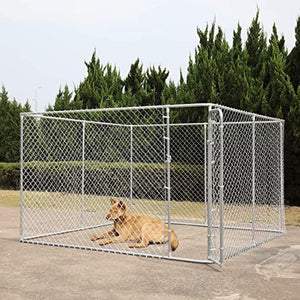 Dog House Kennel Large Cage Pen Outdoor Pet Durable Metal Fences 10 x 10 x 6 F