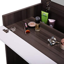 Dressing Vanity Table Chic Makeup Desk with Flip up Mirror