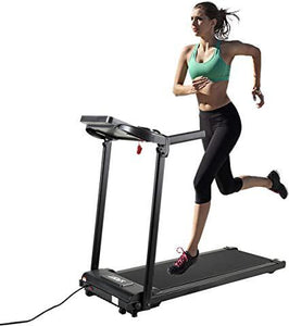 Electric Folding Treadmill 2.0HP Fitness Motorized Running Jogging Machine for HomeOffice Use with LCD Display 12 Preset Programs Black