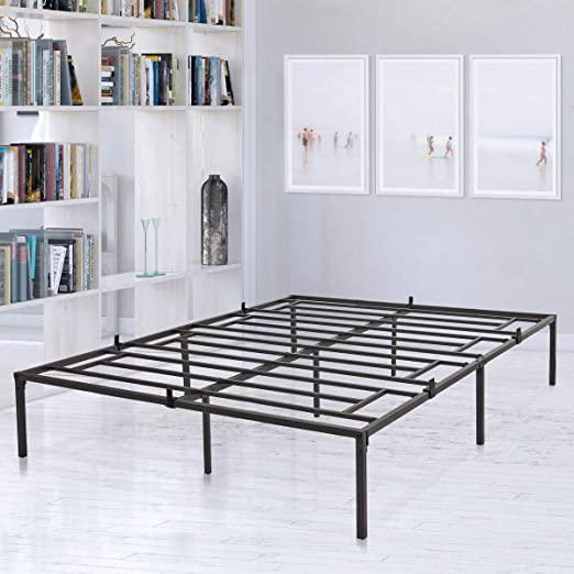 Full Size Bedroom Platform Metal Bed Frame Heavy Duty Mattress Foundation Box Spring Replacement wSteel Base Black