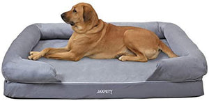 Grey Extra Large Pet Dog Bed Soft Warm Puppy Cat Cushion House 50.5 x 39 x 9 inch