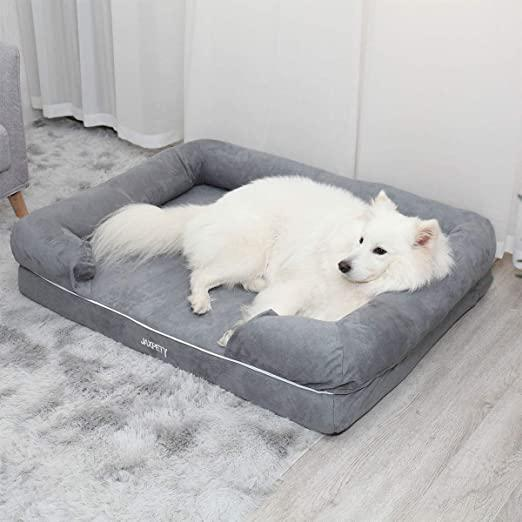 Grey Large Pet Dog Bed Soft Warm Puppy Cat Cushion House