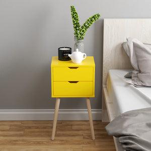 Nightstands Bed Side End Table Bedroom Bedside Stand 2 Drawers