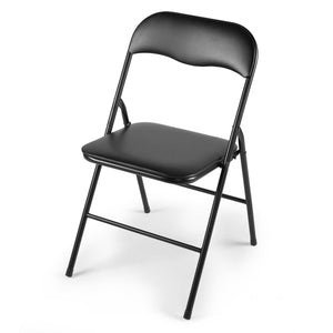 Commercial Wedding Quality  Stack-able Plastic Folding Chairs White/Black