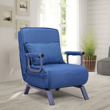 Convertible Sofa Bed Folding Arm Chair Single Sleeper Bed Chair Leisure Recliner