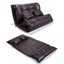 Home Theater Seats Loveseat Sofa Seating Foldable PU Leather Gaming Couch