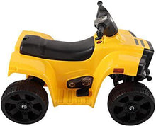 Kids Ride On Car ATV Four 4 Wheels Battery Powered with LED Motor Bike in Yellow