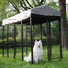 Large Dog Uptown Welded Wire Kennel Outdoor Pen Outside Exercise Crate Pet Wire Cage wRoof