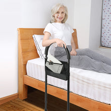 Height Adjustable Bed Assist Bar Handle Frame Rail Grab with Side Pocket