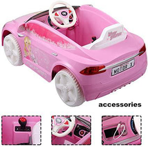 Pink 6V Ride On Car Kids Electric Battery Power Ride-On Vehicle w 2.4GHz Remote Control