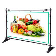 10' Telescopic Step and Repeat Banner Backdrop Stand Adjustable isplay Wall