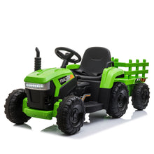 12v Battery-Powered Toy Tractor with Trailer