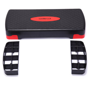 "Fitness Adjustable Aerobic Stepper Workout Platform Bench 4"" - 6"" Workout Exercise Stepper Risers"
