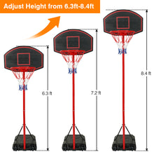 "28 "" Indoor / Outdoor Youth Portable Basketball  Backboard, Height-Adjustable Basketball Hoop Stands"
