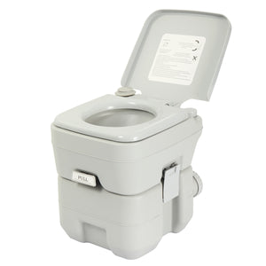 Portable Toilet 5 Gallon 20L Flush Travel Camping Outdoor/Indoor Commode Potty