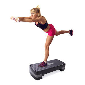 27''Fitness Aerobic Step Platform Adjustable Exercise Stepper