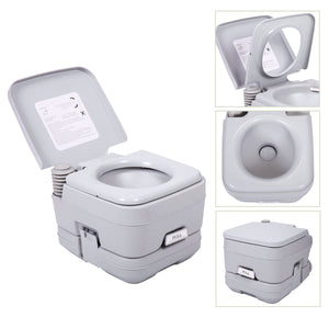 2.8 Gallon 10L Portable Commode Toilet Travel Camping Outdoor/Indoor Waterpot