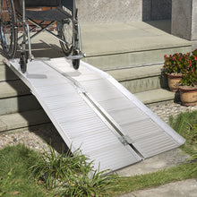 6' Folding Aluminum Ramp Mobility Wheelchair Scooter Threshold Portable