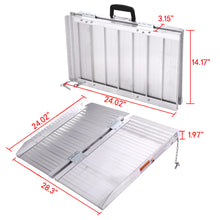 2' Folding Portable Suitcase Mobility Wheelchair Threshold Ramp Aluminum New
