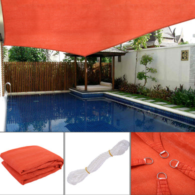 Sun Shade Sail Outdoor Top Canopy Patio UV Block 16' x 20' Rectangle Orange-red