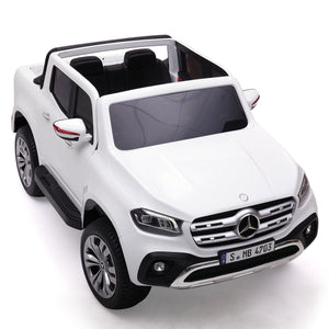12 Volts Ride On Toy Car Mercedes Benz Truck Remote Control with MP3 White