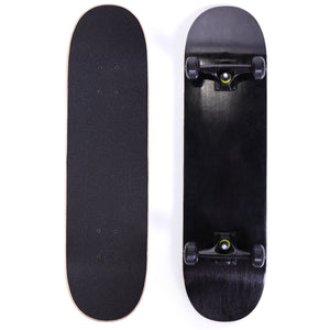 "Blank 7.75"" Complete Skateboard Skateboards Stained Black , Ready to ride Black"