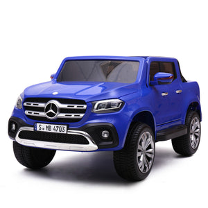 2X12V Mercedes Benz Truck Battery Ride On Toy Car Remote Control with MP3 Blue