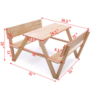 Folding Picnic Table And Chairs Set Outdoor Portable Camping Children Kids