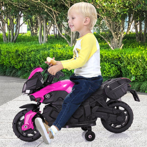 6V Kids Electric Motorcycle Ride On Toy Car Battery 4 Wheel Bicycle Pink
