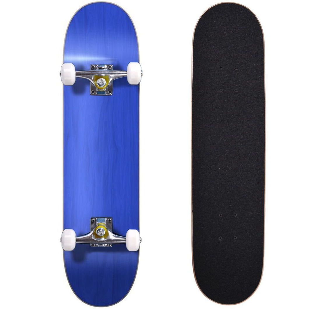 Blank Complete Skateboard Stained BLUE 7.75
