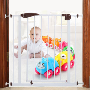Baby Safety Gate Door Walk Through Child Toddler Pet Metal Easy Locking System