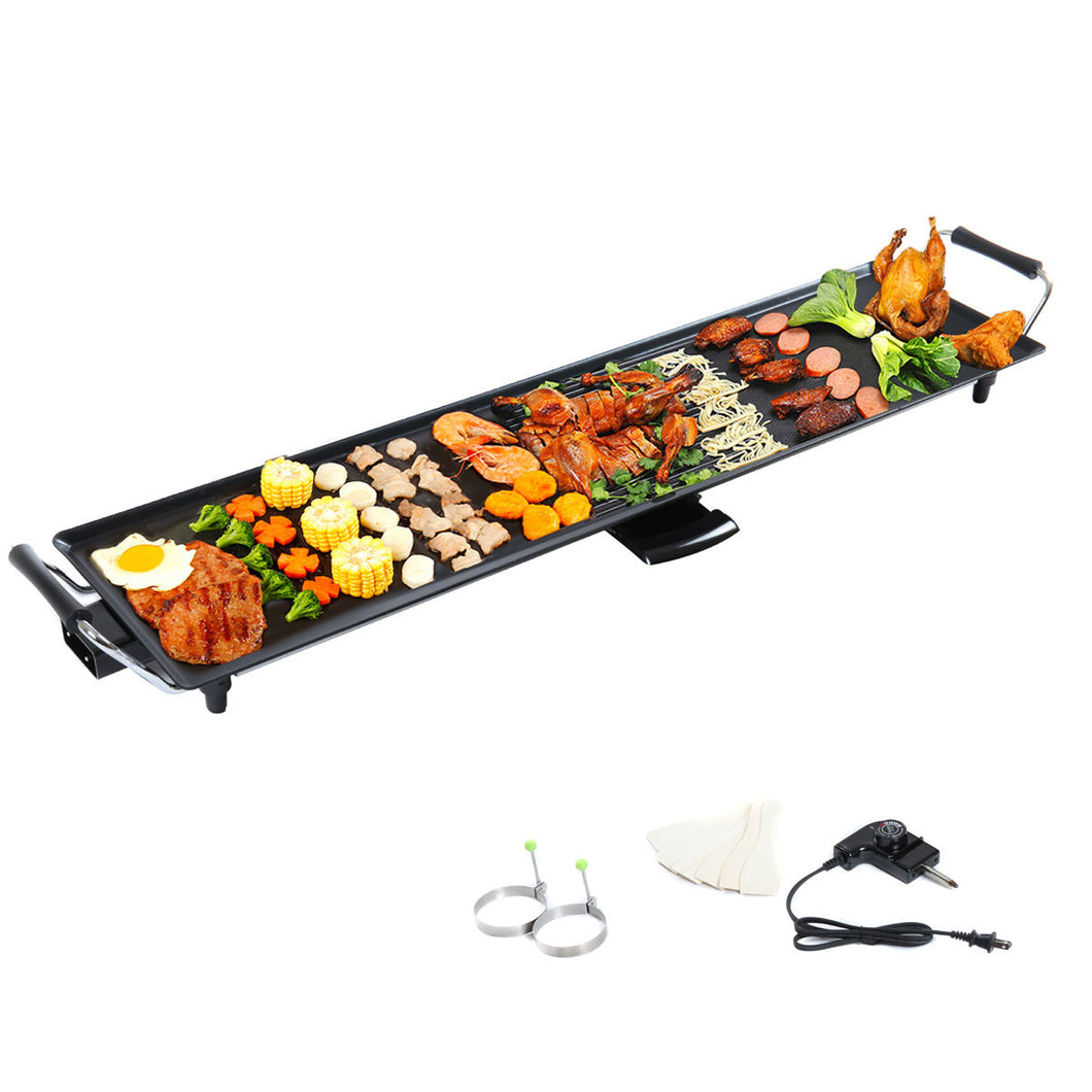 Camping Garden BBQ Electric Teppanyaki Table Top Grill Griddle Nonstick