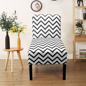 Contemporary Chevron Pattern Accent Chair Dining Side Chair Leisure Chair