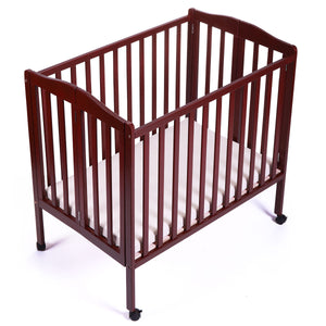Baby Toddler Bed Pine Wood Nursery Furniture Safety Newborn Coffee Foldable