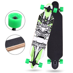 "Professional Adult Skateboard Complete Wheel Trucks Maple Deck 41"" x 10"" Wood"