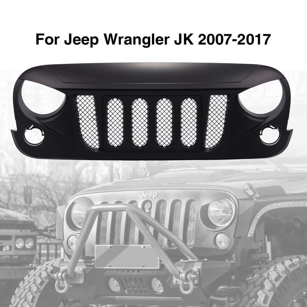 Transformer Grille Grid Grill For 2007-2017 Jeep Wrangler Rubicon Sahara Sport