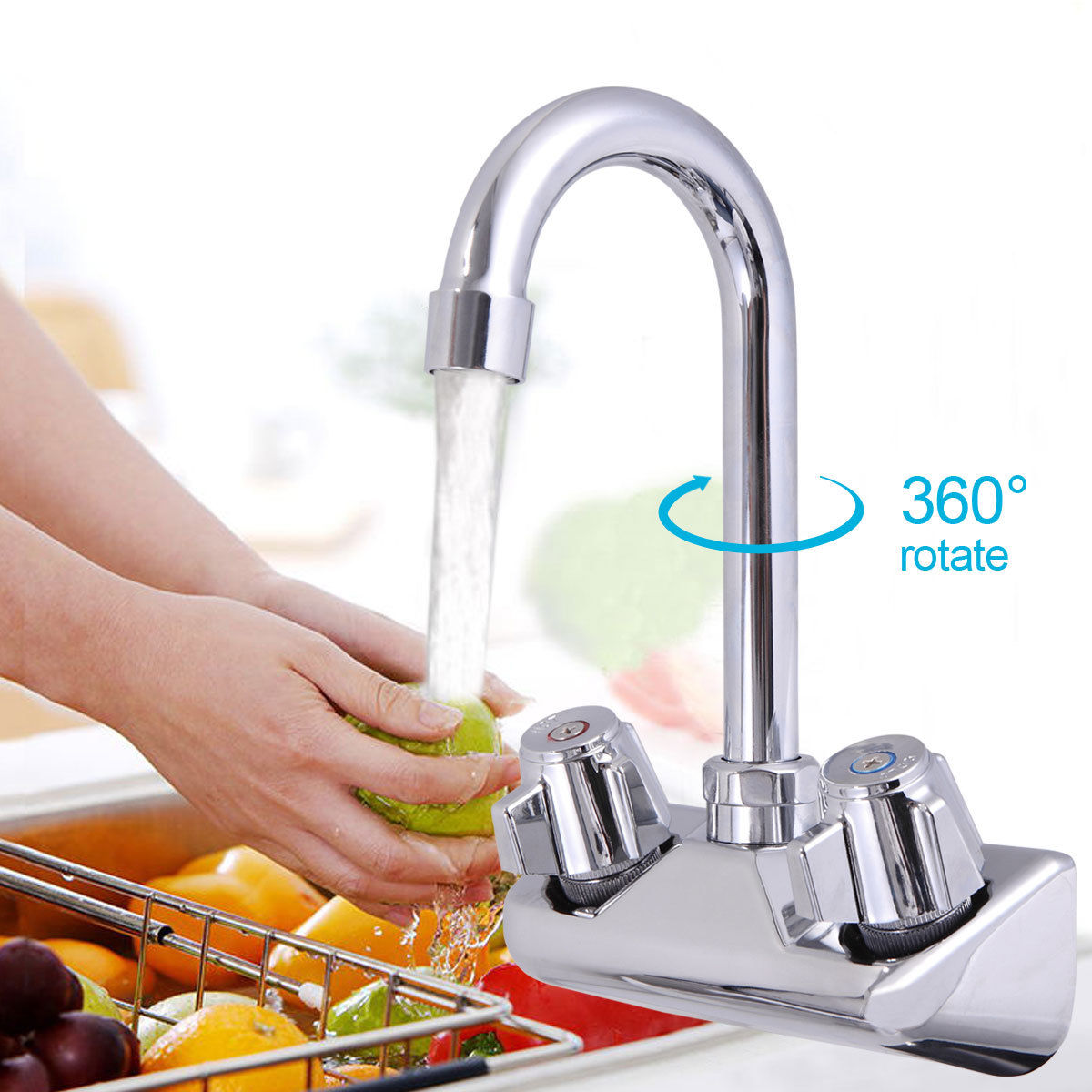 Commercial Wall Mount Kitchen Hand Wash Sink Nsf Stainless Steel With Sandinrayli