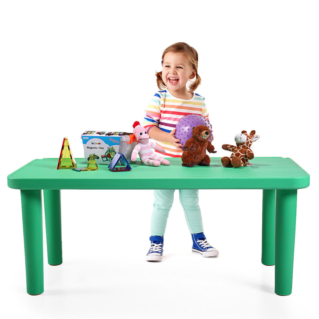 Green Kids Portable Plastic Table Learn and Play Activity School Home Furniture
