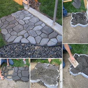Driveway Path Walk Maker Paving Pavement Mold Patio Concrete Stepping Stone New