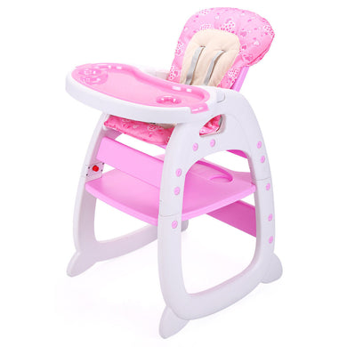 Convertible Infant 3in1 High Chair Play Table Seat Booster Toddler Feeding Tray