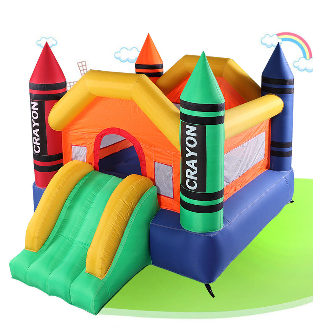 Inflatable Mighty Moonwalk Bouncer House Bounce Castle Jumper Without Blower