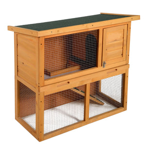 "36"" Wooden Chicken Coop Hen House Rabbit Wood Hutch Poultry Cage Waterproof"