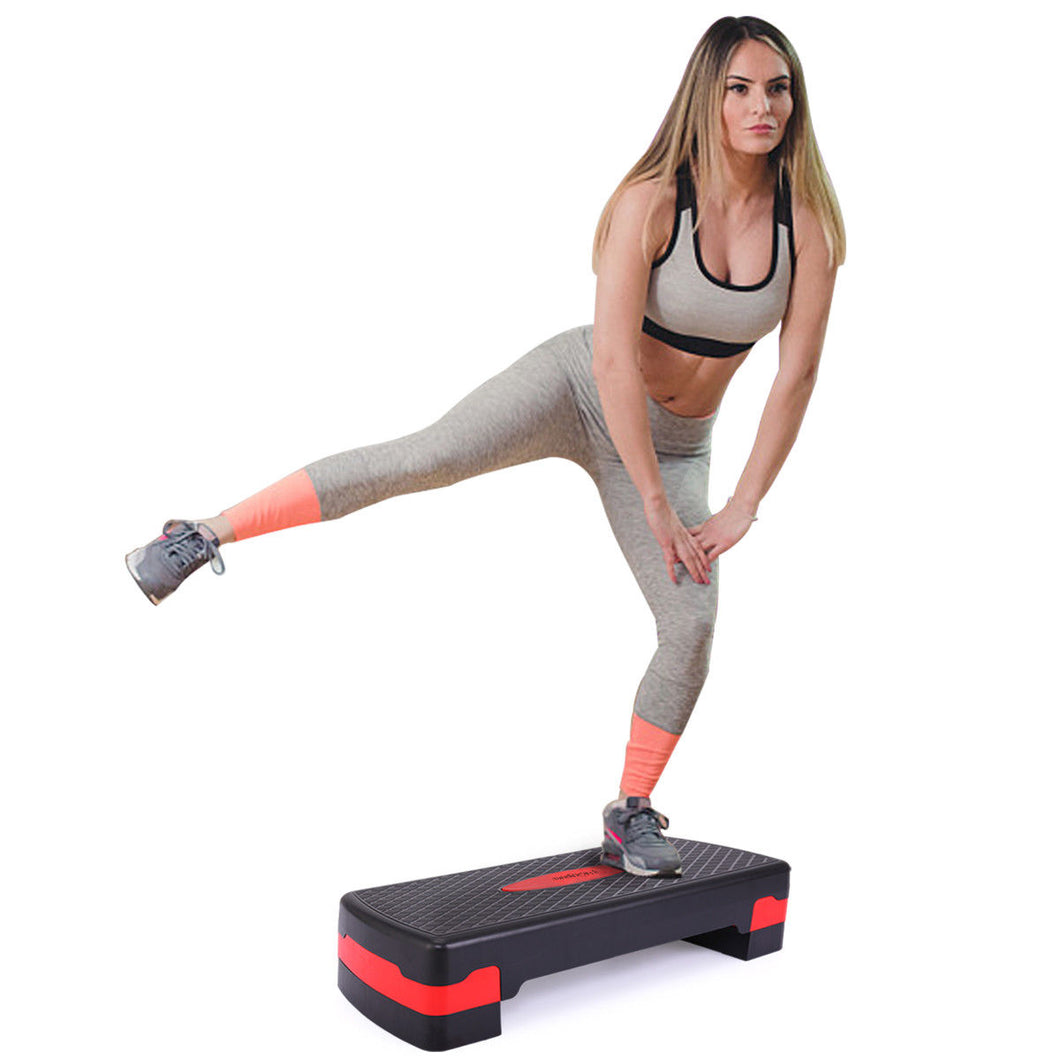 Fitness Adjustable Aerobic Stepper Workout Platform Bench 4