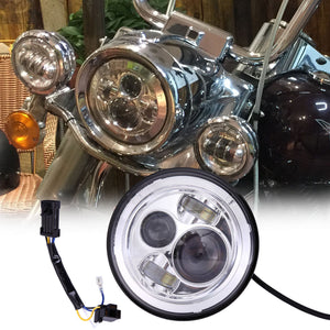 "7"" Round Projector Daymaker Headlight for Harley LED Street Glide FLHX Chrome"